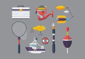 Vector de equipamento de pesca gratuito
