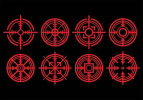 Ícones de etiqueta de laser vetor