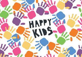 Vetor do Dia das Crianças das Mãos das Crianças