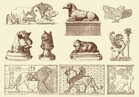 Esculturas de animais vetor