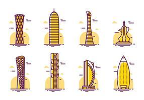 Vector de arranha-céus de Qatar