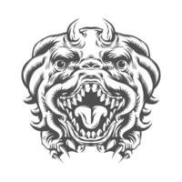 monstro cabeça de animal da imaginação vetor