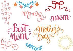 Vetores gratuitos do dia das mães
