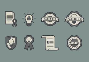 Ícone de patente vetor