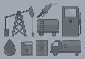 Ícone da indústria do petróleo vetor