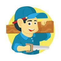 carpinteiro ou engenheiro civil vetor