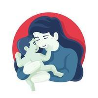 mãe segura retrato do filho