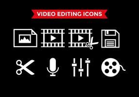 Vetor de ícones de edição de vídeo