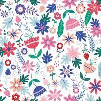 folk floral padrão sem emenda