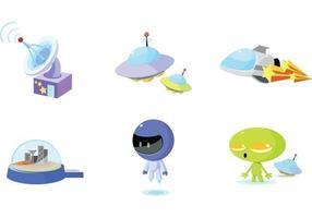 Pacote de vetores de ícone de espaço