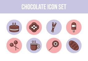 Conjunto de ícones de chocolate grátis vetor