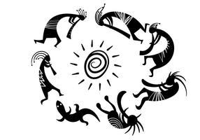 Vector de símbolos Kokopelli grátis