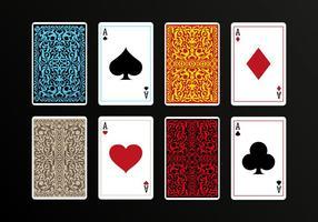 Vetores dos cartões de jogo