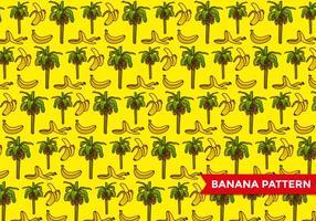 Padrão de árvore de banana vetor
