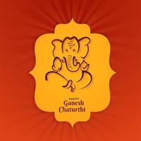 lord ganesha design de cartão de festival de forma ornamental vetor