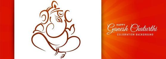 festival indiano para banner ganesh chaturthi