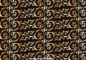Fundo dourado do ornamento de Achantus vetor