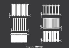 Conjunto de vetores de ícones de radiação