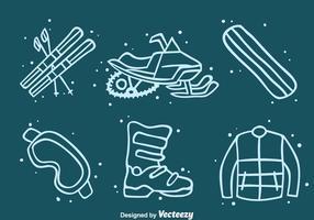 Vetor de ícones de elementos de aventura de inverno