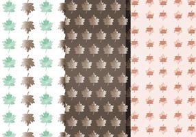 Vetor padrões de folhas de queda de aquarela