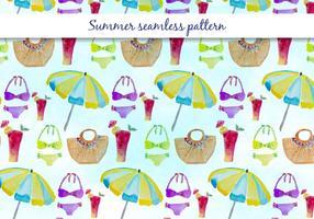 Vector padrão de banho de verão