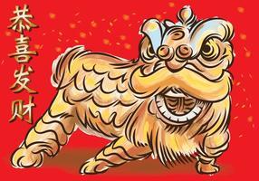 Dança do Leão vetor