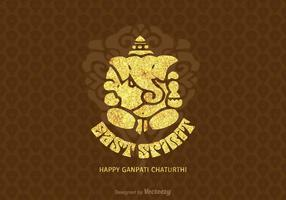 Livre Feliz Ganpati Chaturthi Vector Card