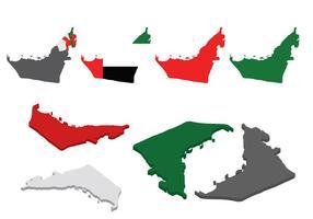 Vector livre do mapa de UAE