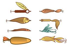 Vetor de isca de pesca livre