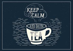 Tipografia de vetor de chá
