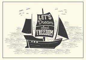 Tipografia de vetor de barco grátis