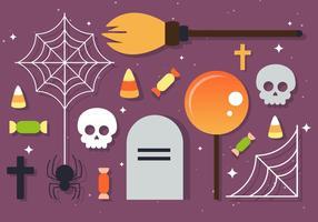Elementos gratuitos do vetor de Halloween