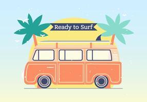 Hippie bus vector background