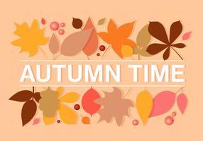 Ilustração vetorial de folhas de outono vetor