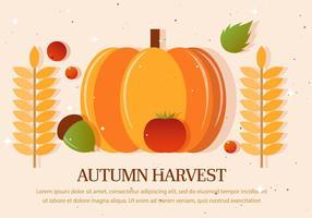 Ilustração vetorial da colheita de outono