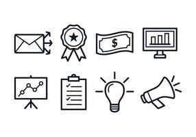 Ícones de Marketing Grátis vetor