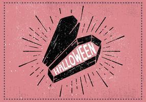 Ilustração vetorial do caixão de Halloween
