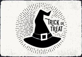 Ilustração da doçura ou travessura do chapéu da bruxa vetor