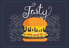 Ilustração do hamburguer de vetores grátis