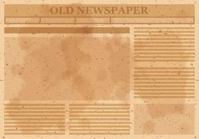 Vetor de layout do jornal antigo