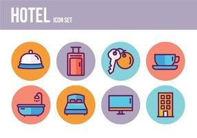 Ícones de hotel gratuitos vetor