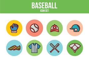 Ícones de baseball gratuitos vetor