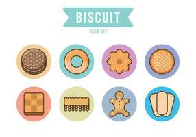 Jogo grátis de ícones de cookies vetor