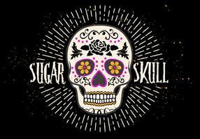 Ilustração brilhante do vetor do crânio brilhante do açúcar