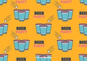 Vector de padrão de cerveja Pong