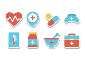 Ícones grátis da etiqueta do hospital vetor