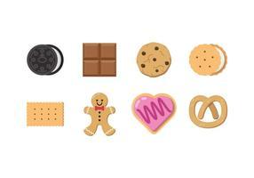 Vector grátis de chocolate e biscoito