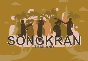 Ilustração gratuita de Songkran vetor