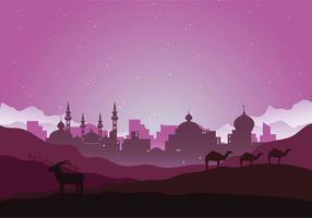 Ilustração da noite árabe gratuita vetor