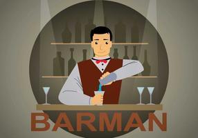 Ilustração gratuita do barman vetor